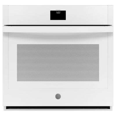 30 in. 5.0 cu. ft. Smart Single Electric Wall Oven Self-Cleaning with Steam in White