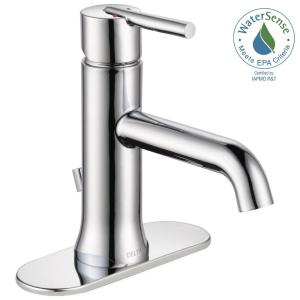 Bathroom Faucets Delta delta trinsic single hole single-handle bathroom faucet with metal