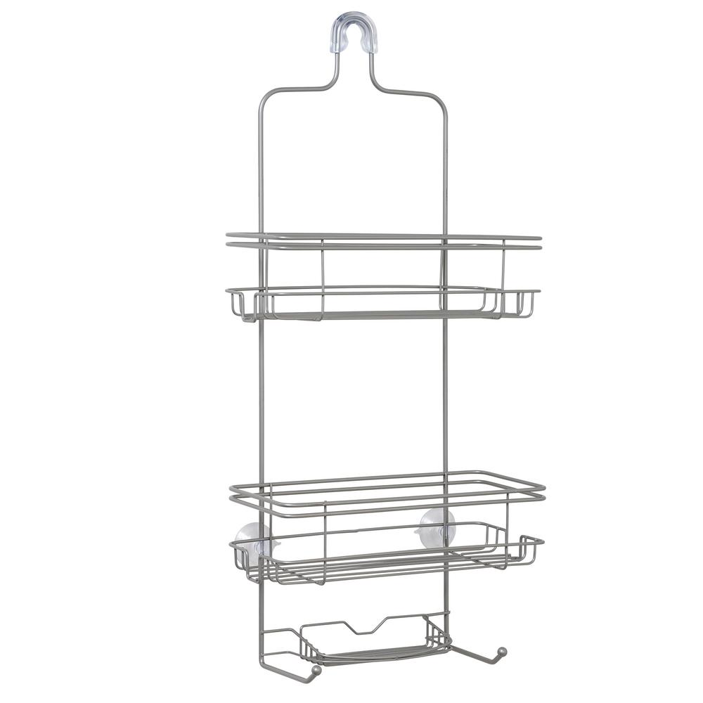 Large Over-the-Shower Caddy in Satin Nickel