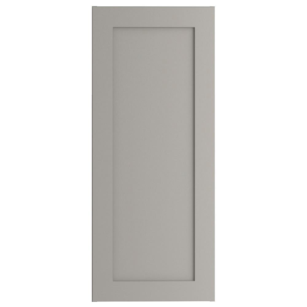 Hampton Bay Cambridge Assembled 15x36x12.5 in. Wall Cabinet in Gray