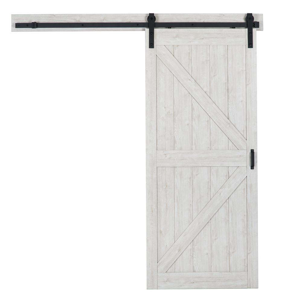 Sandstone Oak K Design Solid Core Interior Barn Door