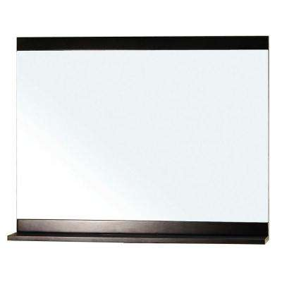Belfast 30 in. L x 36 in. W Solid Wood Frame Wall Mirror in Dark Espresso