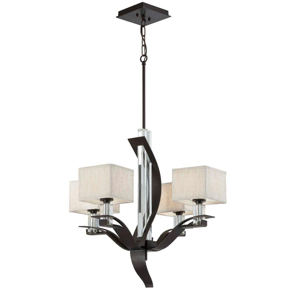 Yosemite Home Decor Kalmia Collection 4-Light Hanging Chandelier