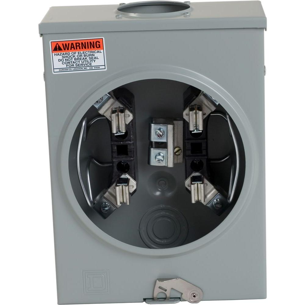 Electrical Meter Socket The Portal And Forum Of Wiring Diagram E2eh015 Nordyne Square D 125 Amp Ringless Overhead Utrs101b Home Rh Homedepot Com