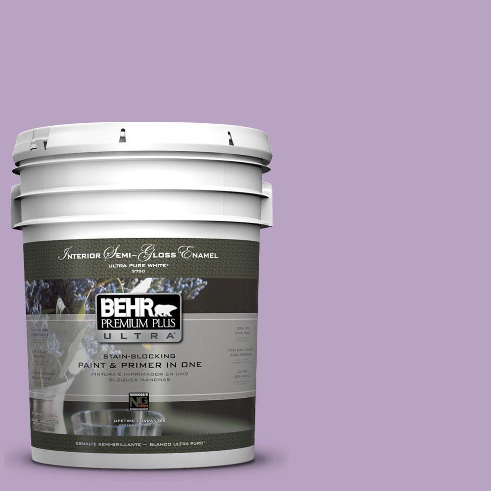 5-gal. #660D-4 Lilac Rose Semi-Gloss Enamel Interior Paint