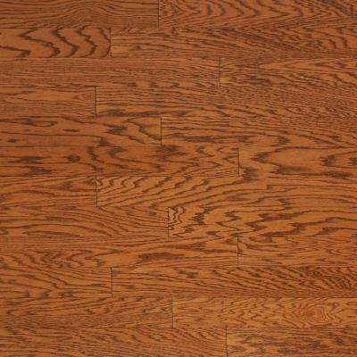 Brushed Oak Antique Brown 3/8 in. x 4-3/4 in. Wide x Random Length Engineered Click Hardwood Flooring (33 sq. ft. /case)