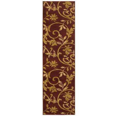 Grace Red/Beige 2 ft. x 7 ft. Plush Indoor Runner Rug