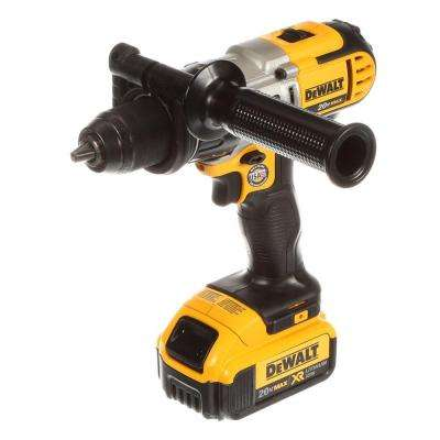 20-Volt Max Lithium-Ion Cordless 1/2 in. Hammer Drill with 2 Batteries 4 Ah 1-Hour Charger and Case