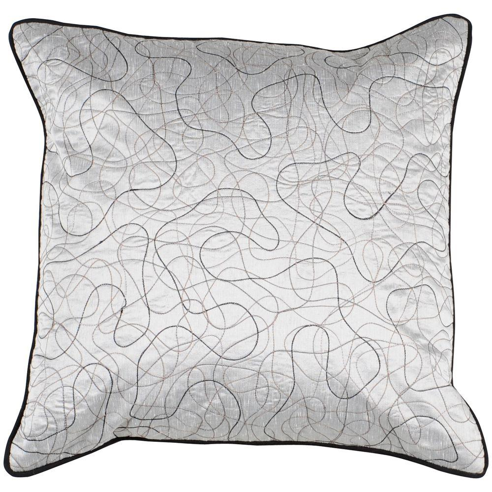 LinesA 18 in. x 18 in. Decorative Down Pillow