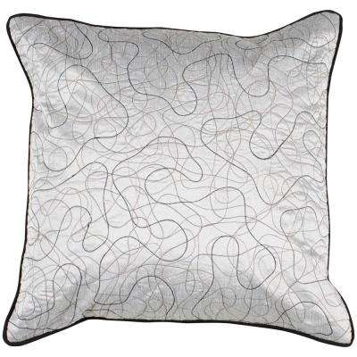 LinesA 22 in. x 22 in. Decorative Down Pillow