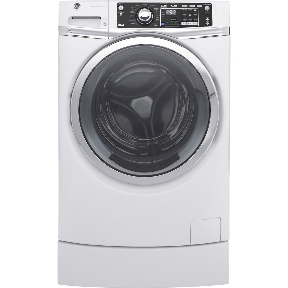 4.9 cu. ft. High-Efficiency White Front Loading Washing Machine with RightHeight