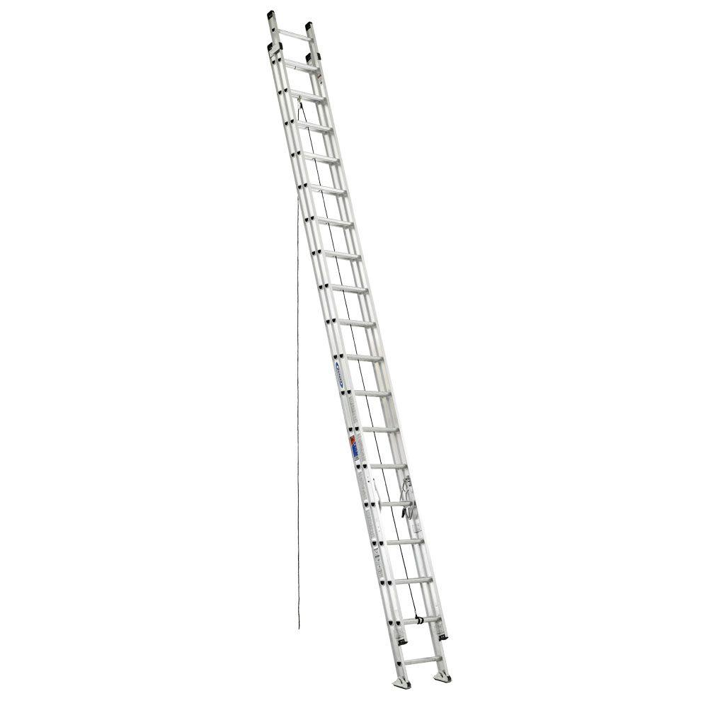 WERNER 36 ft. Aluminum D-Rung Extension Ladder with 300 lb. Load Capacity Type IA Duty Rating