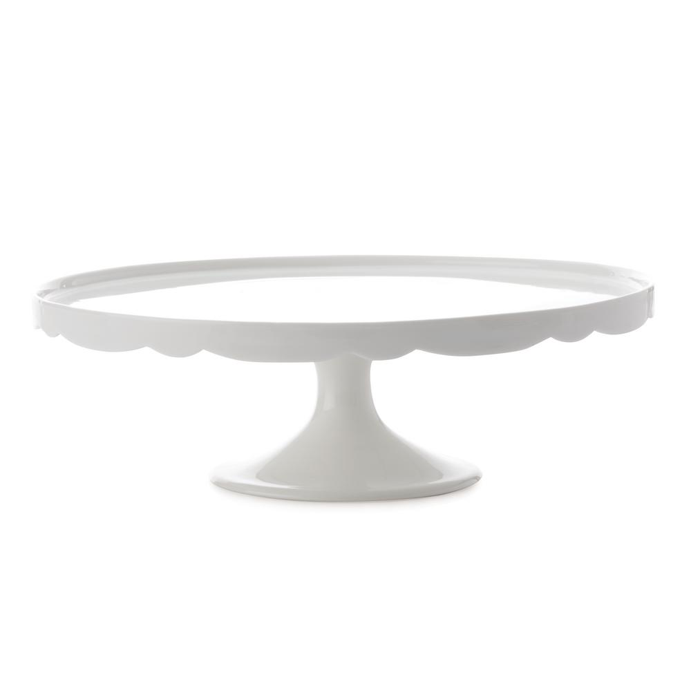 white cake stand maxwell amp williams white basics scallop cake stand 25cm 12145