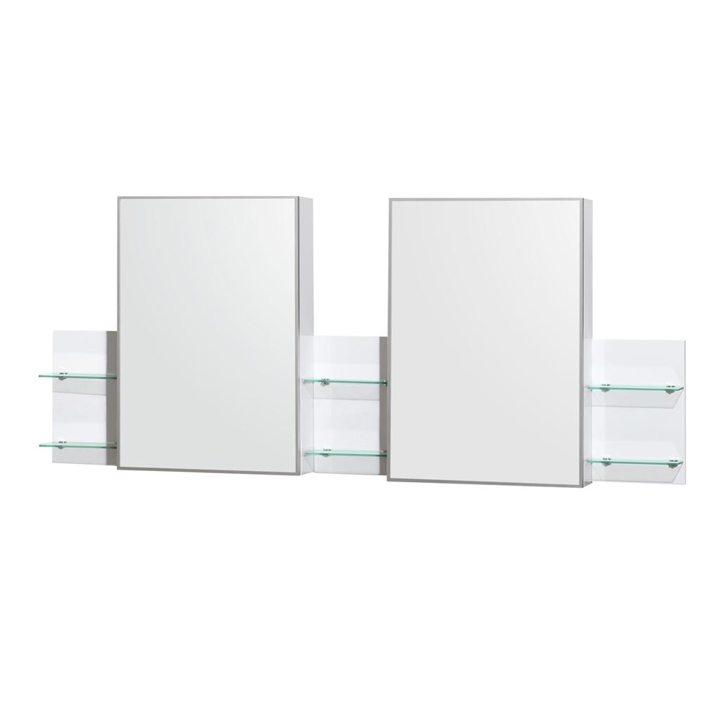 Wyndham Collection Amare 72 in. W x 30 in. H Framed Wall Mirror in White