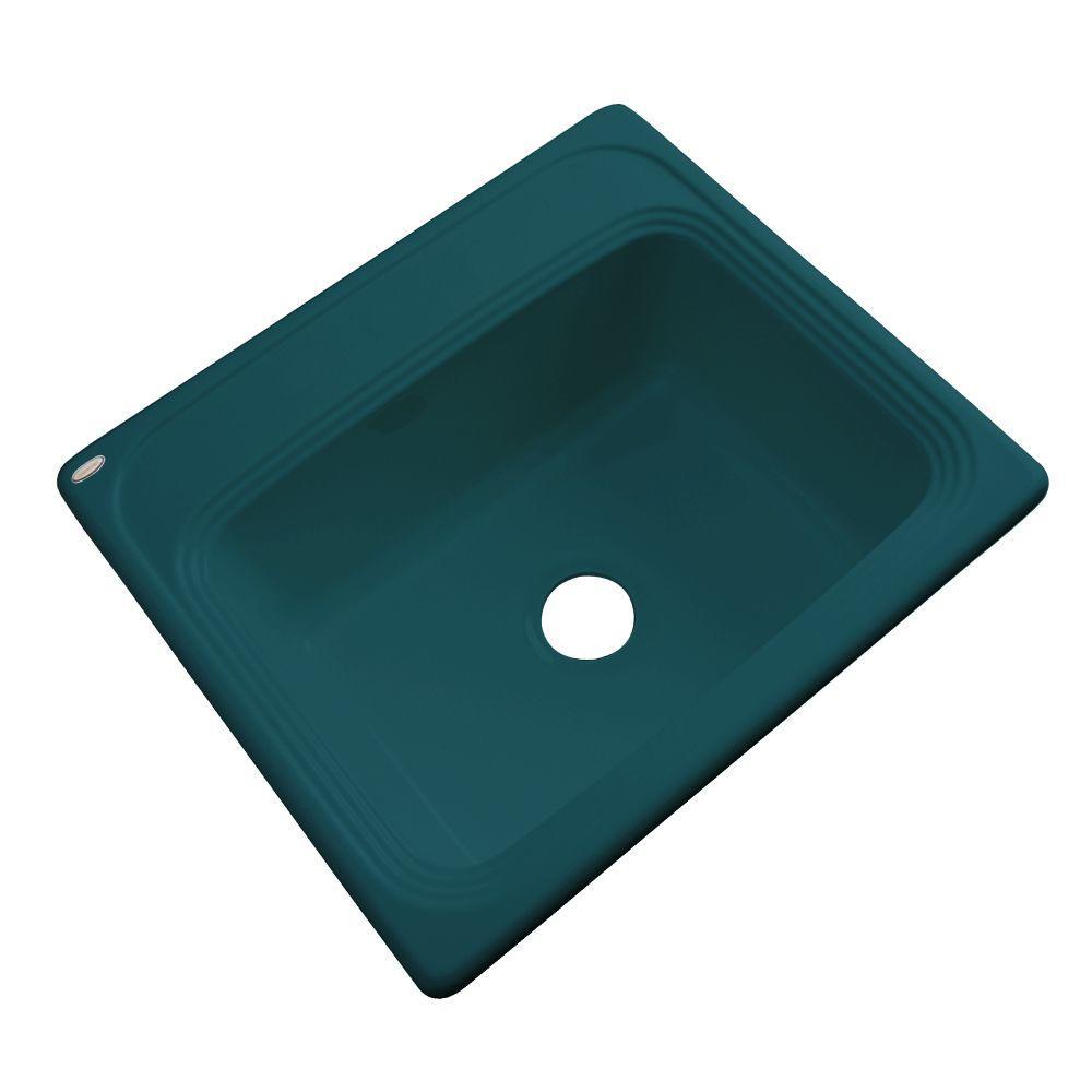 Wellington Drop-In Acrylic 25 in. 0-Hole Single Bowl Kitchen Sink in
