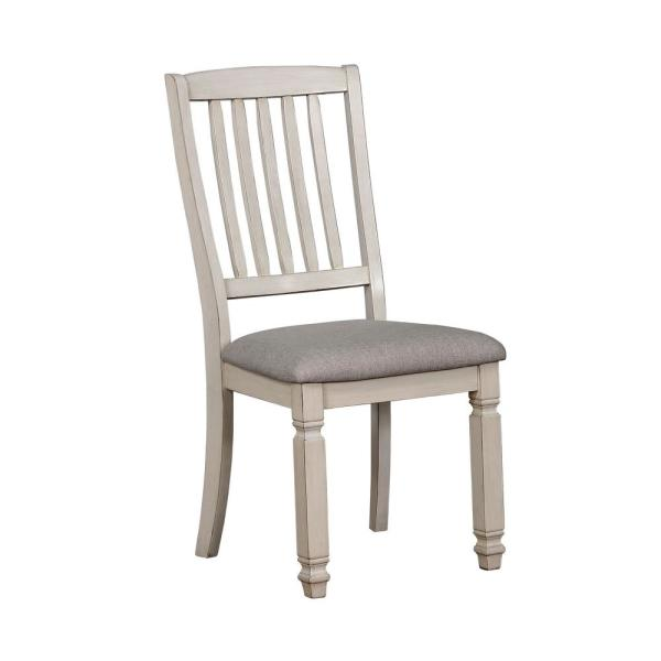 Furniture Of America Ely White Cushioned Dining Side Chair Set 2