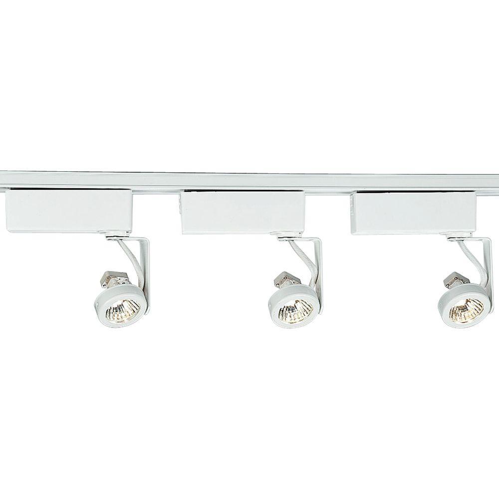 Alpha Trak Collection 3-Light White Track Lighting Kit
