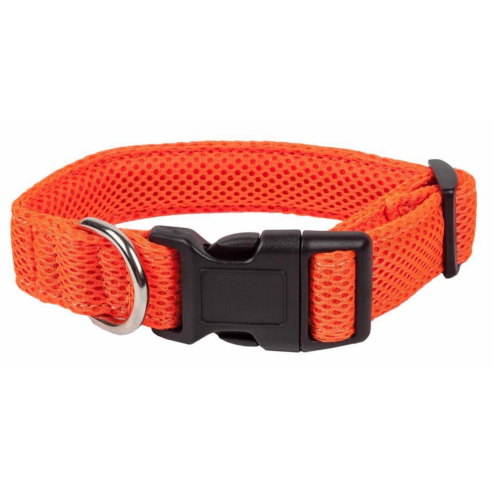 Aero Mesh 360-Degree Breathable Adjustable Mesh Dog Collar, Small, Orange