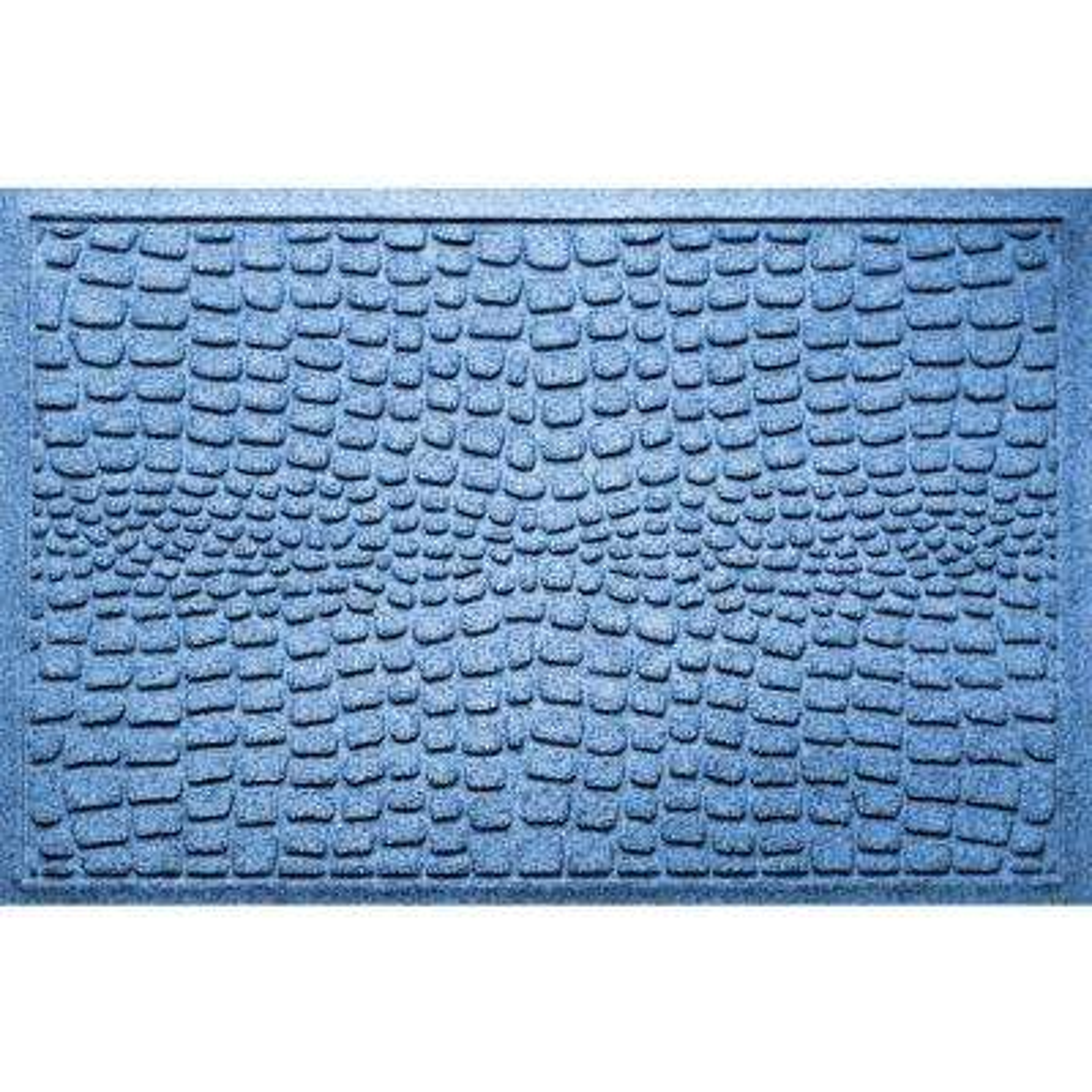 Alligator Medium Blue 24 in x 36 in Polypropylene Door Mat
