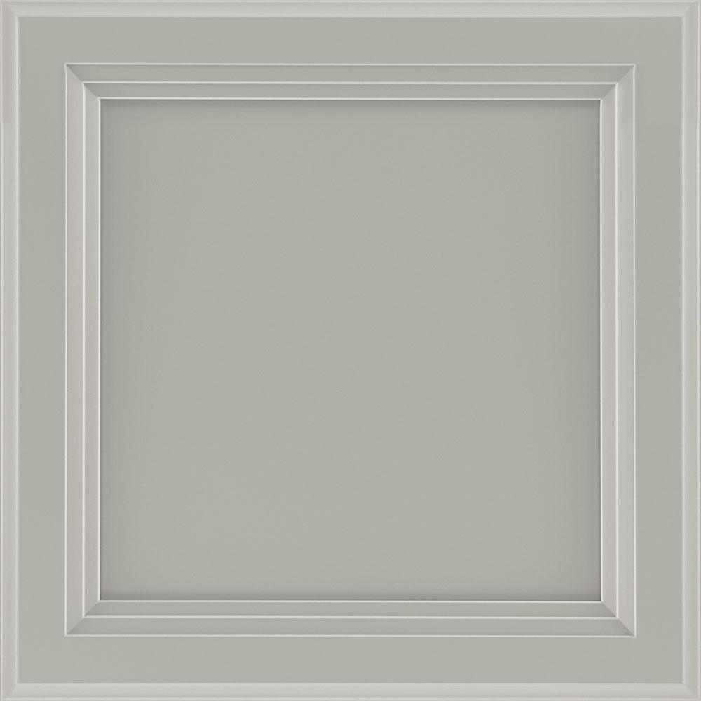 American Woodmark Ashland 12 7 8 X 13 In Cabinet Door Sample In Gray 95363 The Home Depot