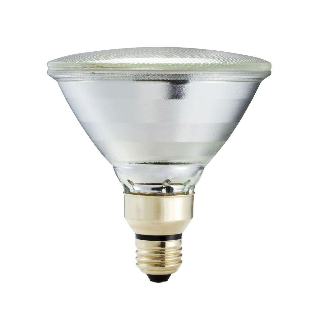 Philips 90 Watt Equivalent Halogen PAR38 Dimmable Indoor/Outdoor Long Life  Flood Light Bulb 421339   The Home Depot Part 35