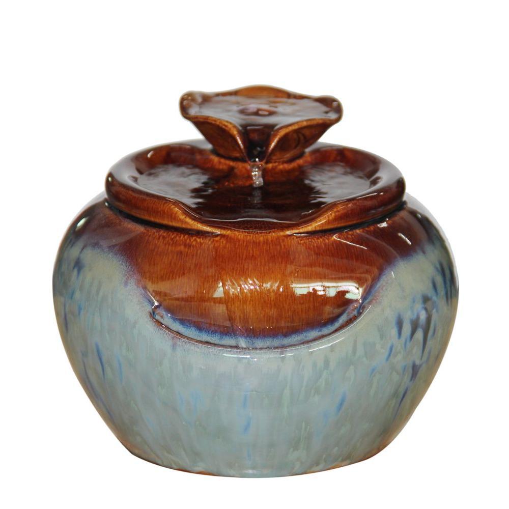 5 in. Tiering Ceramic Tabletop Fountain