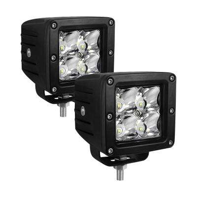 Compact LED -4 5W Cree 3 inch x 3 inch (Set of 2) - Black