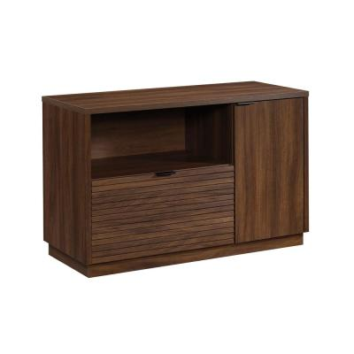 Englewood 46.378 in.W Spiced Mahogany Office Credenza with File Drawer