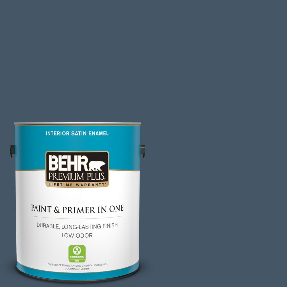 BEHR Premium Plus 1 Gal. #QE-55 Harbour Satin Enamel Low