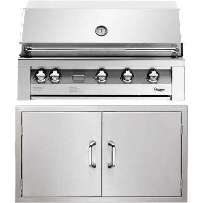 42 in. Built-In Natural Gas Grill in Stainless with Double Access Doors