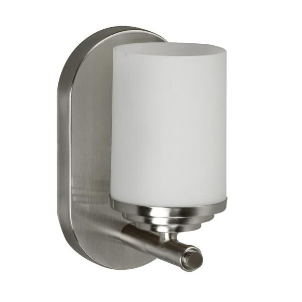 Waterford 4.5 in. Brushed Nickel Sconce with Opal Glass