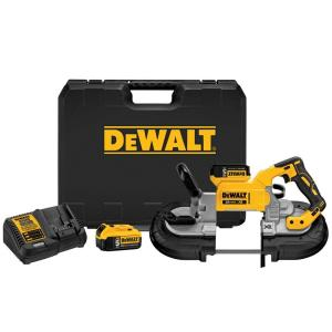 Dewalt 20-Volt MAX XR Lithium-Ion Cordless Brushless Deep Cut Band Saw Kit with (2) Batteries 5Ah, Charger and Case by DEWALT