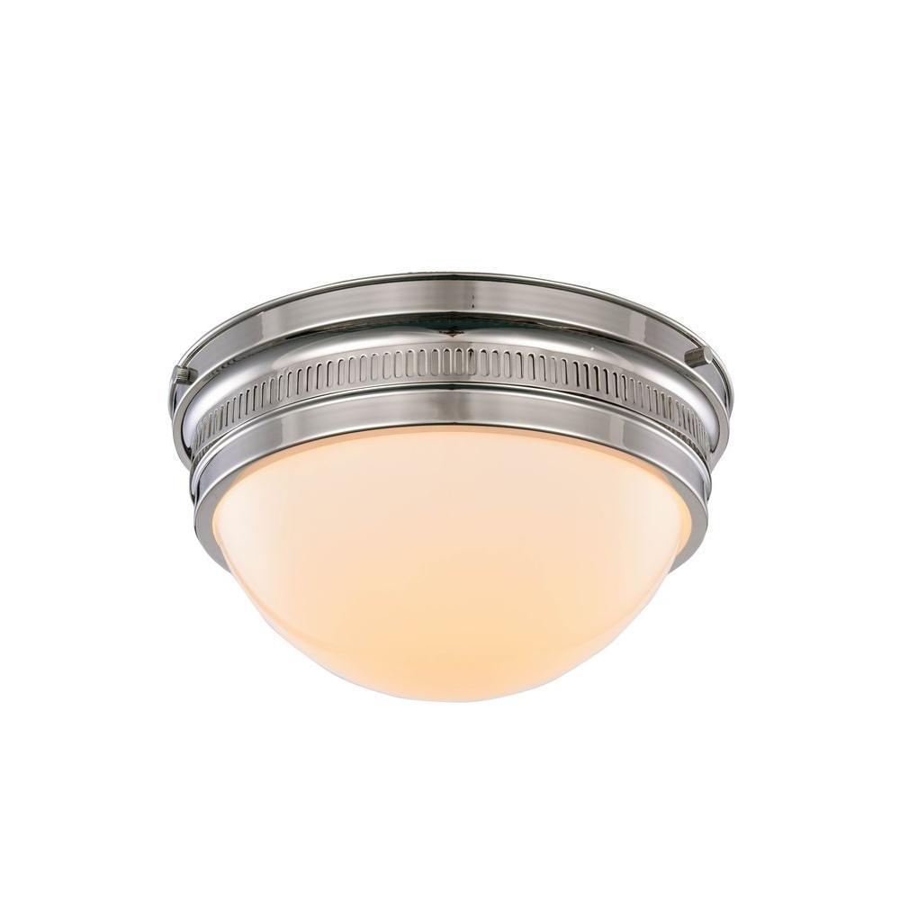 Pria 2-Light Polished Nickel Flush Mount