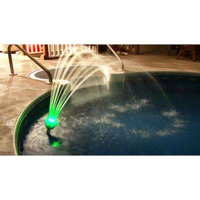 Pool Fountain Deluxe - Color Changing LED Lighting No Power Cords, No Batteries, No Solar, Water Powered