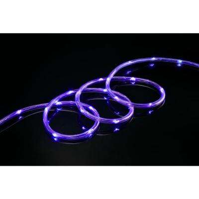 16 ft purple all occasion indoor outdoor led 14 in mini rope