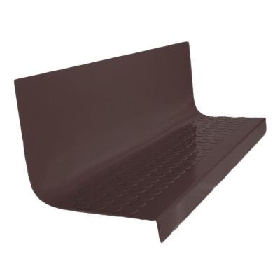 Vantage Circular Profile Brown 20.4 in. x 48 in. Rubber Square Nose Stair Tread