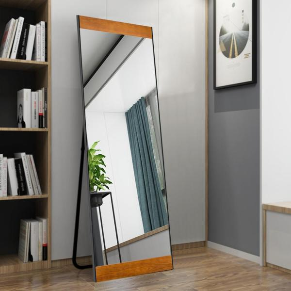 Neu Type Modern Solid Wood Full Length Floor Mirror Leaning