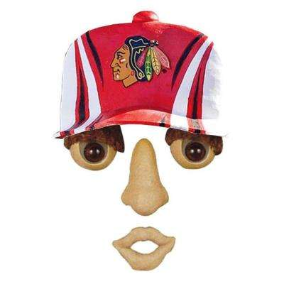 14 in. x 7 in. Forest Face Chicago Blackhawks