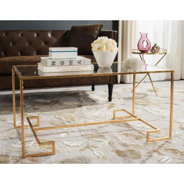 Burton Glass/Antique Gold Coffee Table