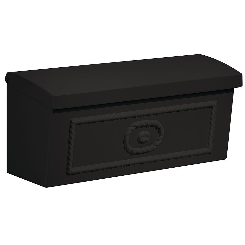 Salsbury Industries 4500 Series Black Surface-Mounted Townhouse Mailbox