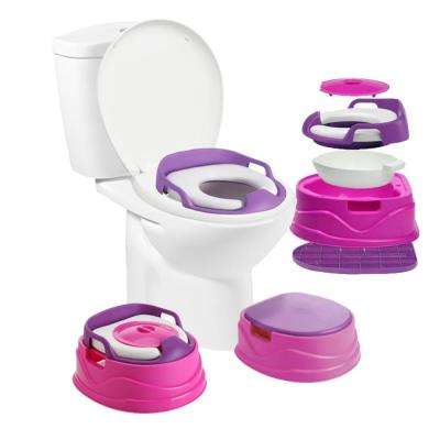 Bambino Potty 3-in-1 Multi-functional Children's Toilet Training Seat in Pink
