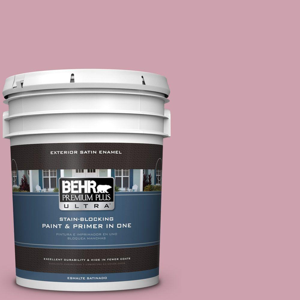 BEHR Premium Plus Ultra 5-gal. #100C-3 Birthday Candle Satin Enamel Exterior Paint