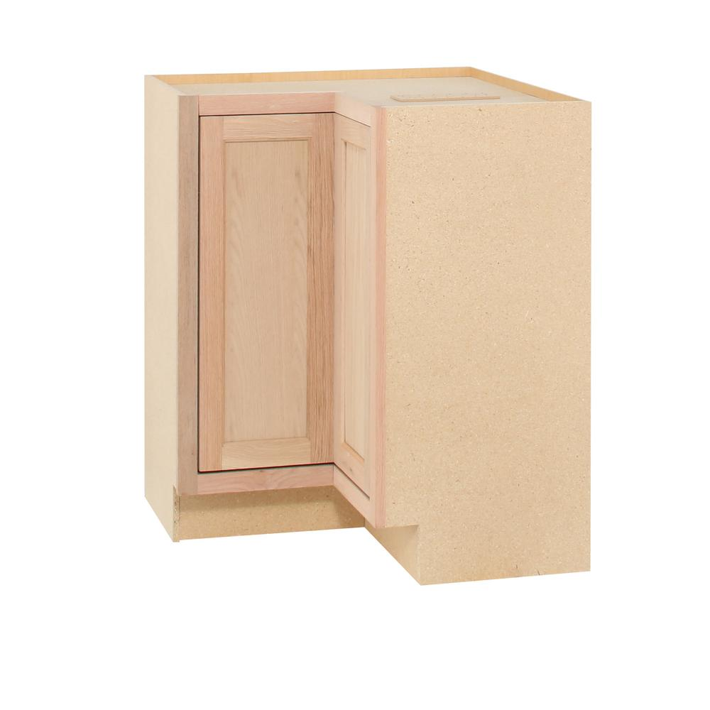Assembled 28.5x34.5x16.5 in. Lazy Susan Corner Base Kitchen Cabinet ...