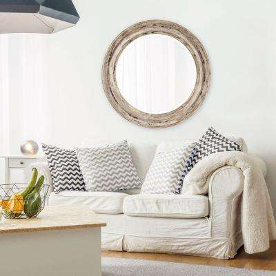 36 in. x 36 in. Maisey Rustic Round Mirror