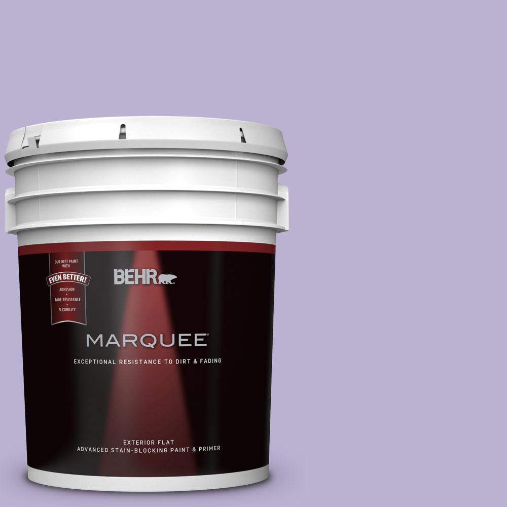 BEHR 5-gal. #M560-3 Grape Hyacinth Flat Exterior Paint, P...