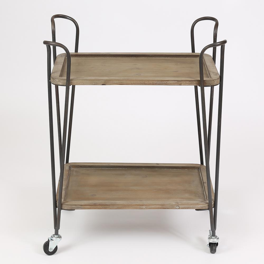 Natural 2-Tray Multipurpose Cart