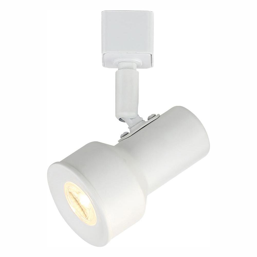 EnviroLite EnviroLite Small Solid White Step Cylinder Integrated LED Track Lighting Head
