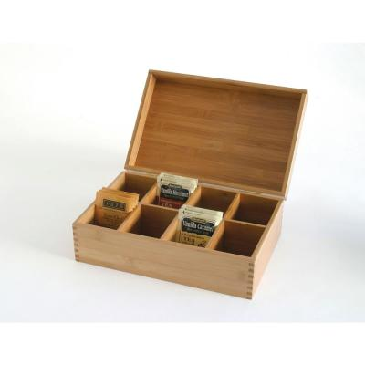 Bamboo 8-Compartment Tea Storage Box