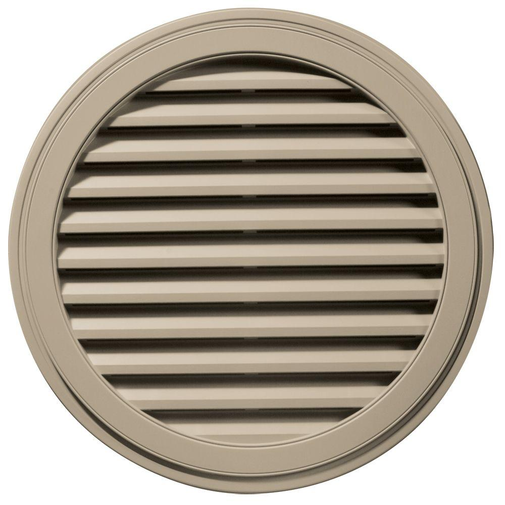 Builders Edge 36 in. Round Gable Vent in Clay
