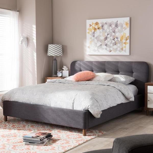 Germaine Gray King Upholstered Bed
